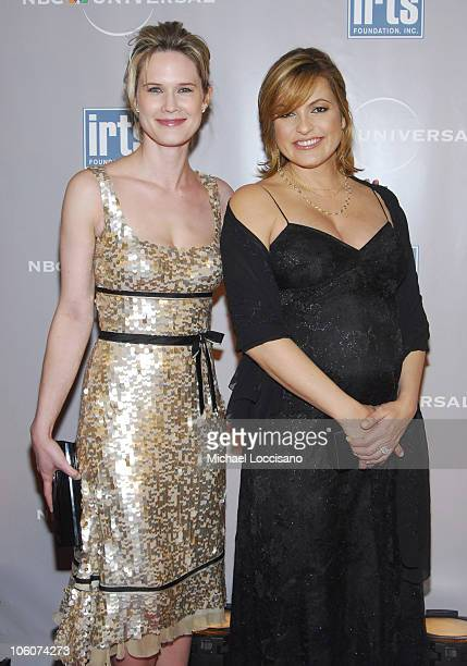 Stephanie March and Mariska Hargitay during IRTS Foundation Gold Medal Award Dinner Honoring NBC's CEO Jeff Zucker at The Waldorf Astoria in New York...