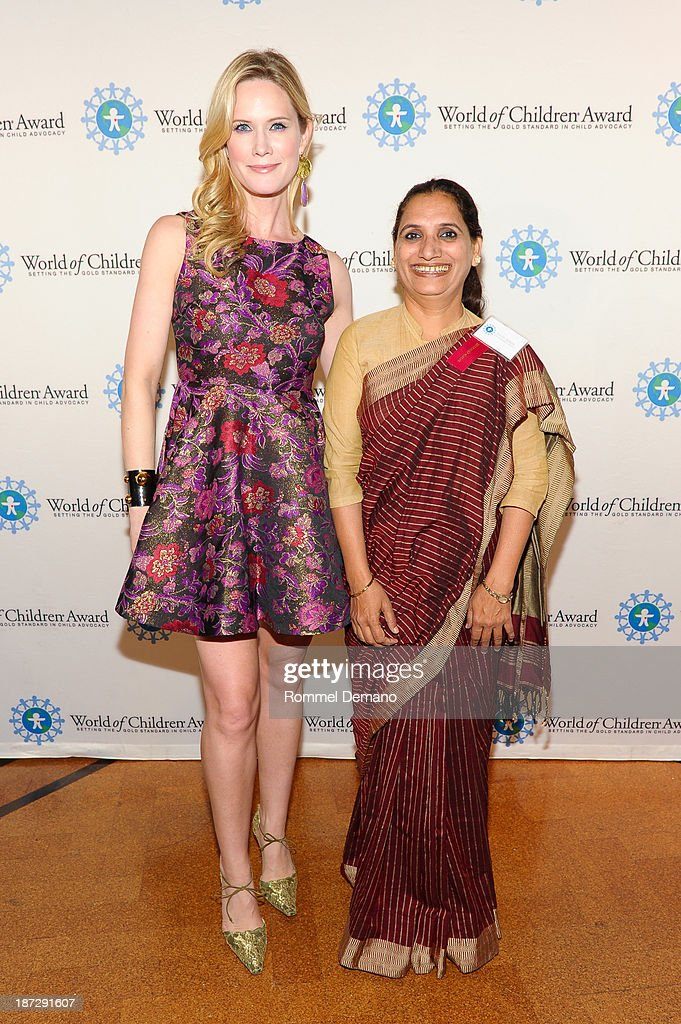 <a gi-track='captionPersonalityLinkClicked' href=/galleries/search?phrase=Stephanie+March&family=editorial&specificpeople=208825 ng-click='$event.stopPropagation()'>Stephanie March</a> and Triveni Acharya attend the 16th annual World Of Children awards at 583 Park Avenue on November 7, 2013 in New York City.