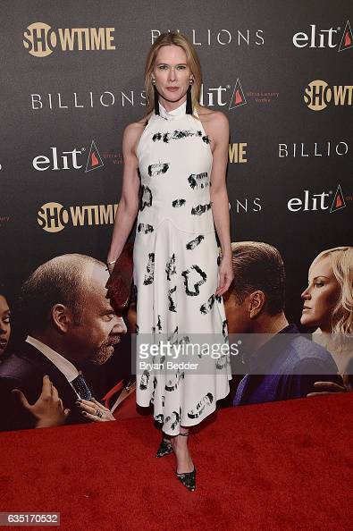 Stephanie March attends the Showtime and Elit Vodka hosted BILLIONS Season 2 premiere and party held at Cipriani's in New York City on February 13...