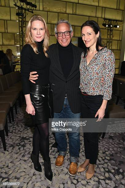Stephanie March chef Geoffrey Zakarian and Pavia Rosati attend The New York Times TasteMasters presented by Park Hyatt on October 19 2015 in New York...