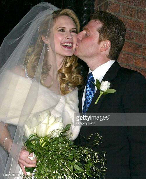 Stephanie March of TV's 'Law Order Special Victims Unit' and Bobby Flay New York chef after becoming man and wife