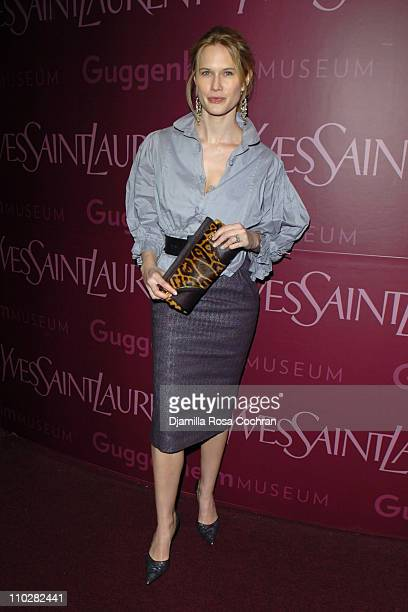 Stephanie March wearing Yves Saint Laurent during Yves Saint Laurent Sponsors the Third Annual Guggenheim Artists Ball at Guggenheim in New York City...