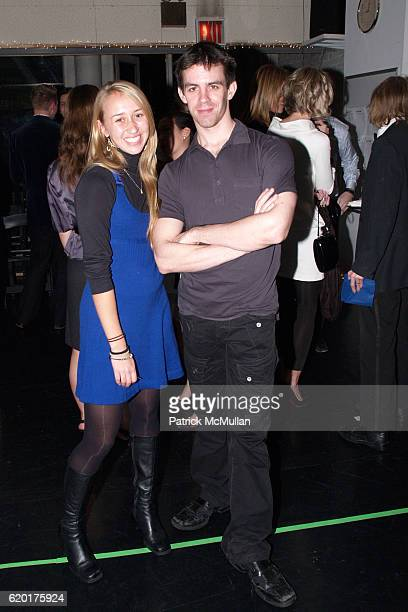 Stephanie Mas and Nick Ceynowa attend PAUL TAYLOR DANCE Hosts Cocktails for YOUNG PATRONS at 552 Broadway on November 11 2008 in New York City