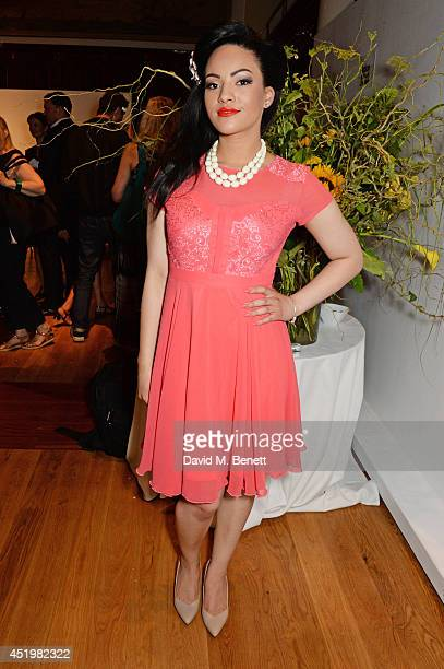 Stephanie McCourt attends 'The Art Of Futebol' charity auction in support of Action for Brazil's Children Trust at the Embassy of Brazil on July 10...