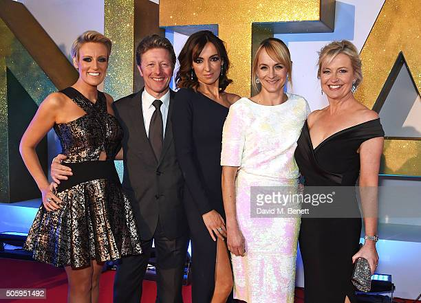 Stephanie McGovern Charlie Stayt Sally Nugent Louise Minchin and Carol Kirkwood attend the 21st National Television Awards at The O2 Arena on January...