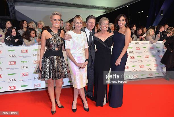 Stephanie McGovern Louise Minchin Charlie Stayt Carol Kirkwood and Sally Nugent attend the 21st National Television Awards at The O2 Arena on January...