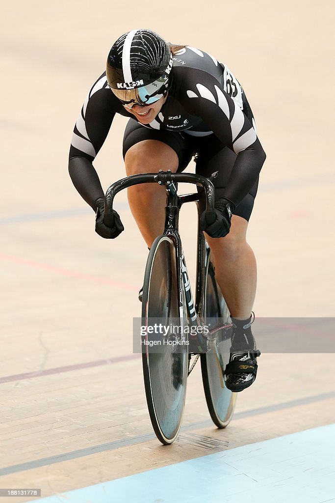 Stephanie McKenzie of New Zealand competes in the women's sprint during the 2013 UCI Festival of Speed at SIT Zerofees Velodrome on November 16 2013...