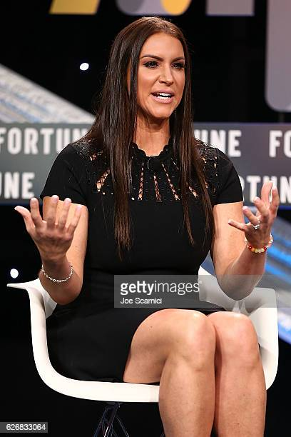 Stephanie McMahon speaks onstage during the Storytelling to the Fan panel at Fortune MPW Next Gen 2016 on November 30 2016 in Dana Point California