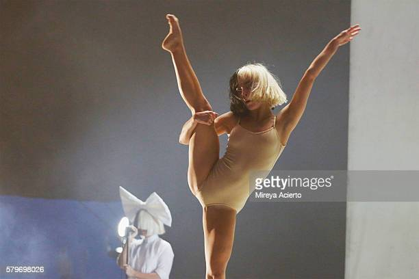Stephanie Mincone and Sia perform onstage during 2016 Panorama NYC Festival at Randall's Island on July 24 2016 in New York City