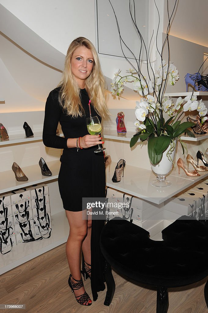Stephanie Mueller Knab and guests attends Swiss luxury shoe brand Lele Pyp VIP London store launch party on July 18, 2013 in London, England.