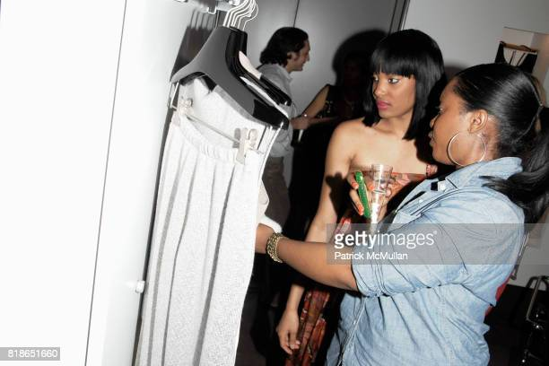 Stephanie Napoleon and Clarissa Jacques attend SANG A LISA WEISS host PARSONS Senior Showcase at DEBUT New York at Debut on June 15 2010 in New York...