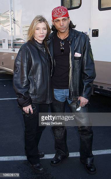 Stephanie Niznik Richard Grieco during Love Ride 19 at Glendale Harley Davidson in Glendale California United States