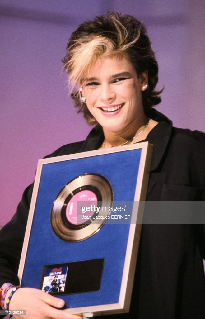 Stephanie of Monaco receives a gold record in ParisFrance on December 21 1986