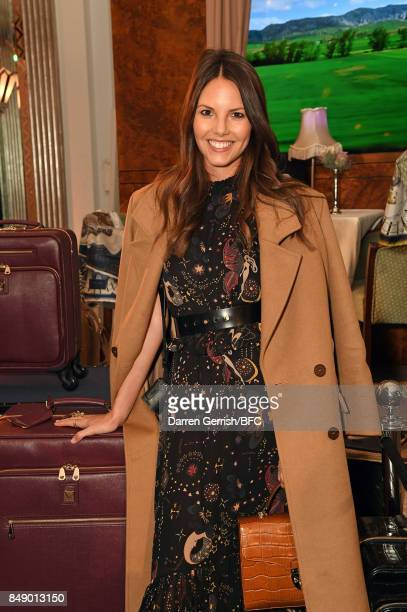 Stephanie Peers attends the Aspinal of London presentation during London Fashion Week September 2017 on September 18 2017 in London England