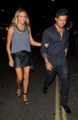 Stephanie Pratt and Spencer Matthews arriving at Mahiki night club on August 1 2013 in London England