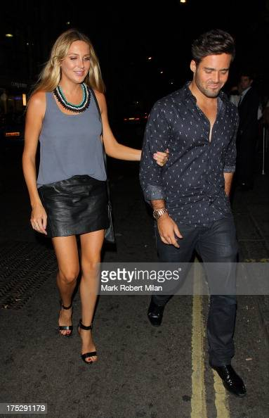 Stephanie Pratt and Spencer Matthews arriving at Mahiki night club on August 1 2013 in London England