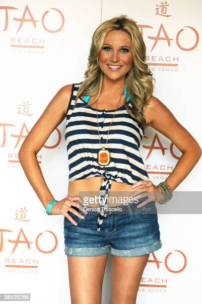 Stephanie Pratt arrives at TAO Beach on April 13 2010 in Las Vegas Nevada