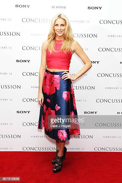 Stephanie Pratt attends a special screening of 'Concussion' at Ham Yard Hotel on January 28 2016 in London England