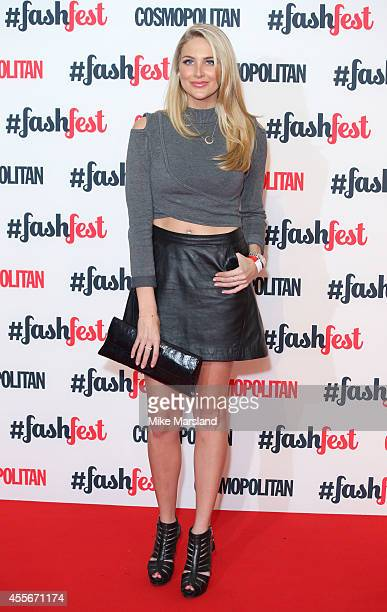 Stephanie Pratt attends the Cosmopolitan #FashFest event at Battersea Evolution on September 18 2014 in London England