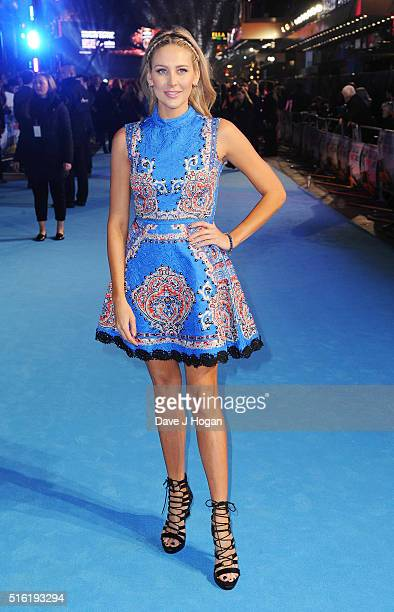 Stephanie Pratt attends the European premiere of 'Eddie The Eagle' at Odeon Leicester Square on March 17 2016 in London England