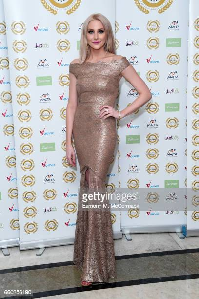 Stephanie Pratt attends the National Film Awards on March 29 2017 in London United Kingdom