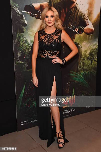 Stephanie Pratt attends the UK Premiere of 'Jumanji Welcome To The Jungle' at Vue West End on December 7 2017 in London England