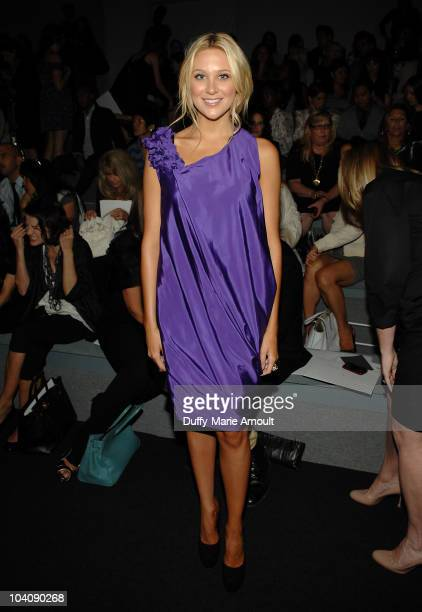 Stephanie Pratt attends the Vera Wang Spring 2011 fashion show during MercedesBenz Fashion Week at The Stage at Lincoln Center on September 14 2010...