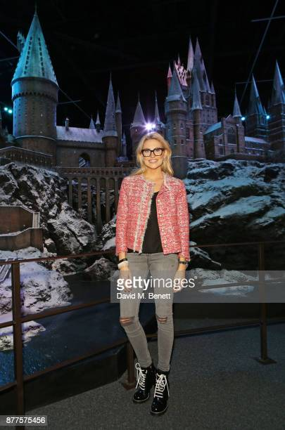 Stephanie Pratt attends the VIP launch of 'Hogwarts In The Snow' at Warner Bros Studio Tour London The Making Of Harry Potter on November 22 2017 in...