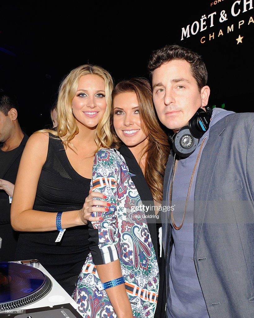 Stephanie Pratt, Audrina Patridge and DJ Automatic attend the Tenth Annual Leather & Laces Super Bowl Party on February 1, 2013 in New Orleans, Louisiana.
