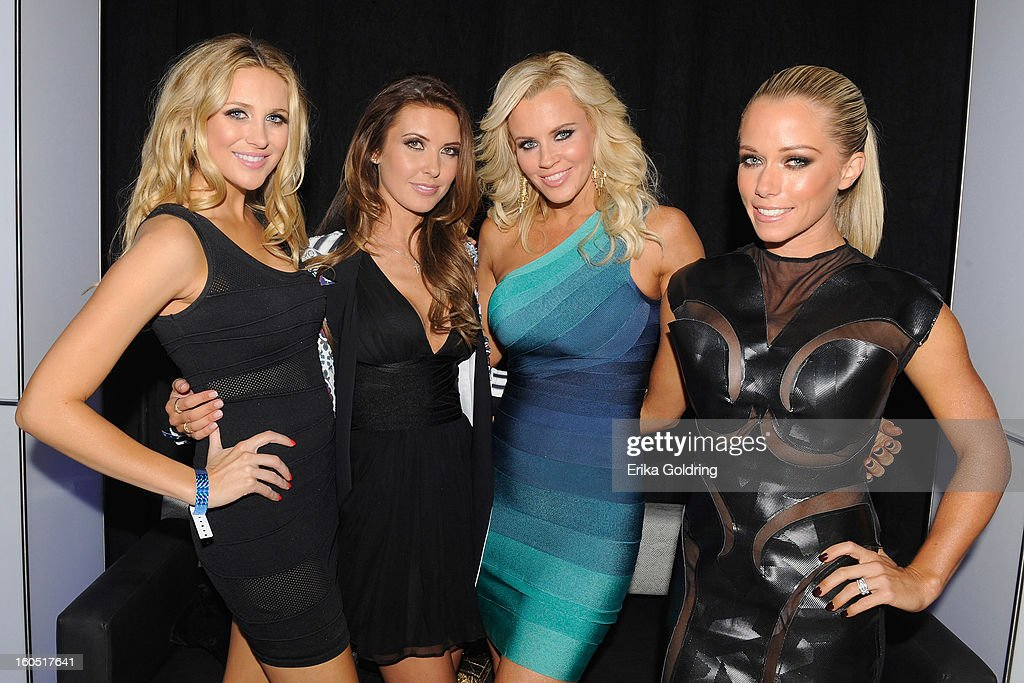 Stephanie Pratt, Audrina Patridge, Jenny McCarthy, and Kendra Wilkinson host the Tenth Annual Leather & Laces Super Bowl Party on February 1, 2013 in New Orleans, Louisiana.