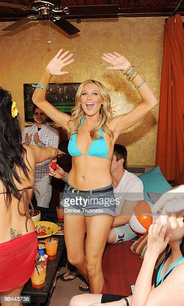 Stephanie Pratt celebrates her birthday at TAO Beach on April 13 2010 in Las Vegas Nevada