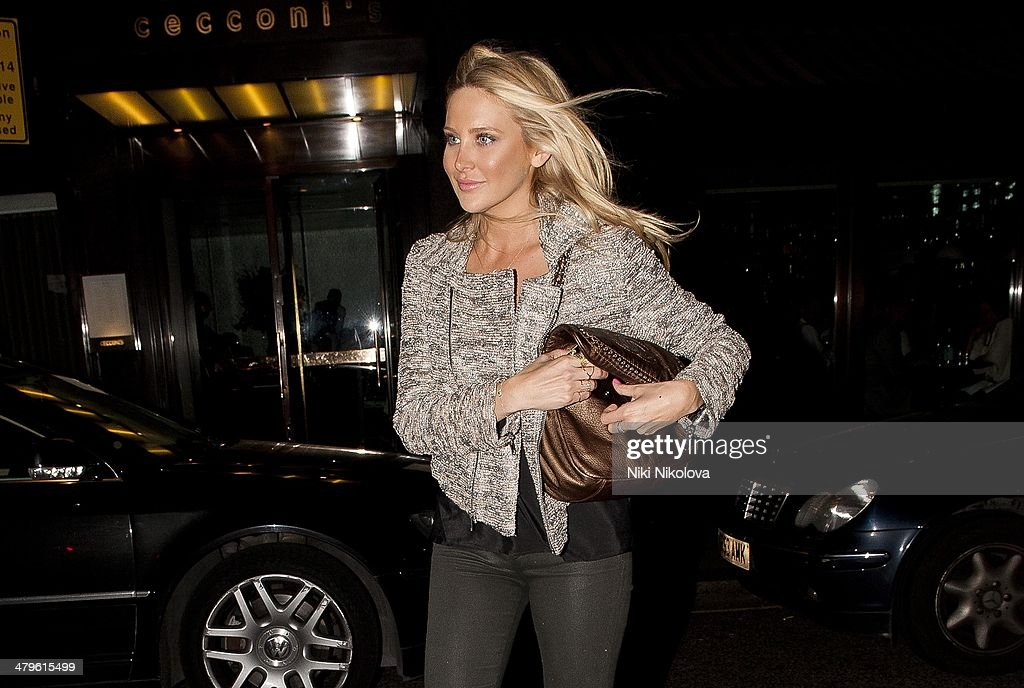 <a gi-track='captionPersonalityLinkClicked' href=/galleries/search?phrase=Stephanie+Pratt&family=editorial&specificpeople=5134159 ng-click='$event.stopPropagation()'>Stephanie Pratt</a> is seen leaving Cecconi restaurant, Mayfair on March 19, 2014 in London, England.