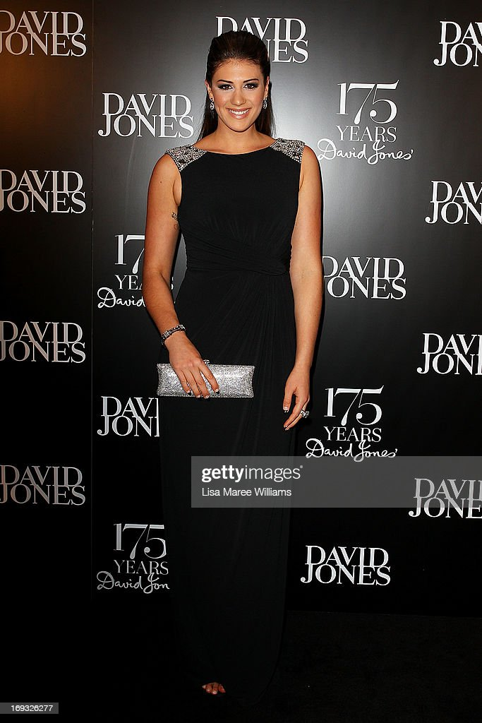 Stephanie Rice attends the David Jones 175 year celebration at David Jones on May 23, 2013 in Sydney, Australia.