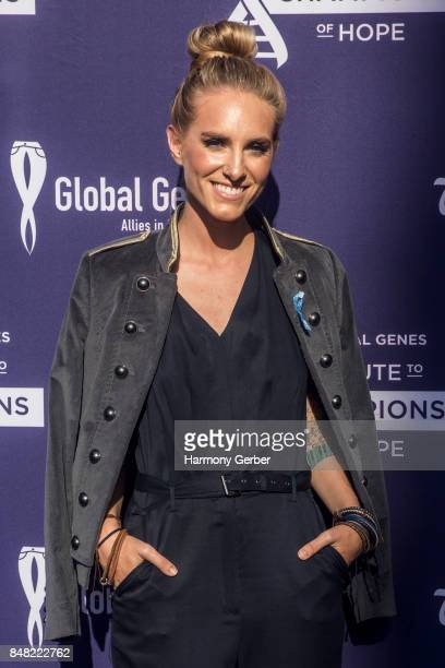 Stephanie Rice attends the Global Genes' 6th Annual Tribute To Champions Of Hope Awards at City National Grove of Anaheim on September 16 2017 in...