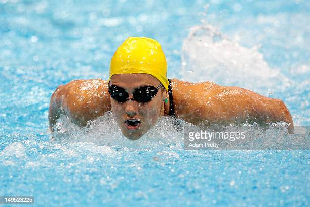 Stephanie Rice of Australia competes in heat 5 of the Women's 200m Individual Medley on Day 3 of the London 2012 Olympic Games at the Aquatics Centre...