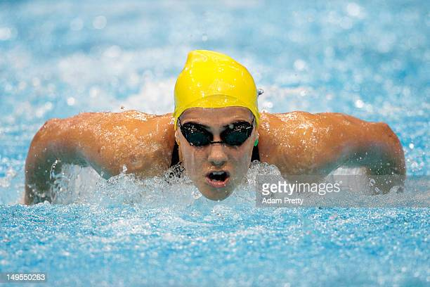 Stephanie Rice of Australia competes in the second semifinal heat of the Women's 200m Individual Medleyon Day 3 of the London 2012 Olympic Games at...