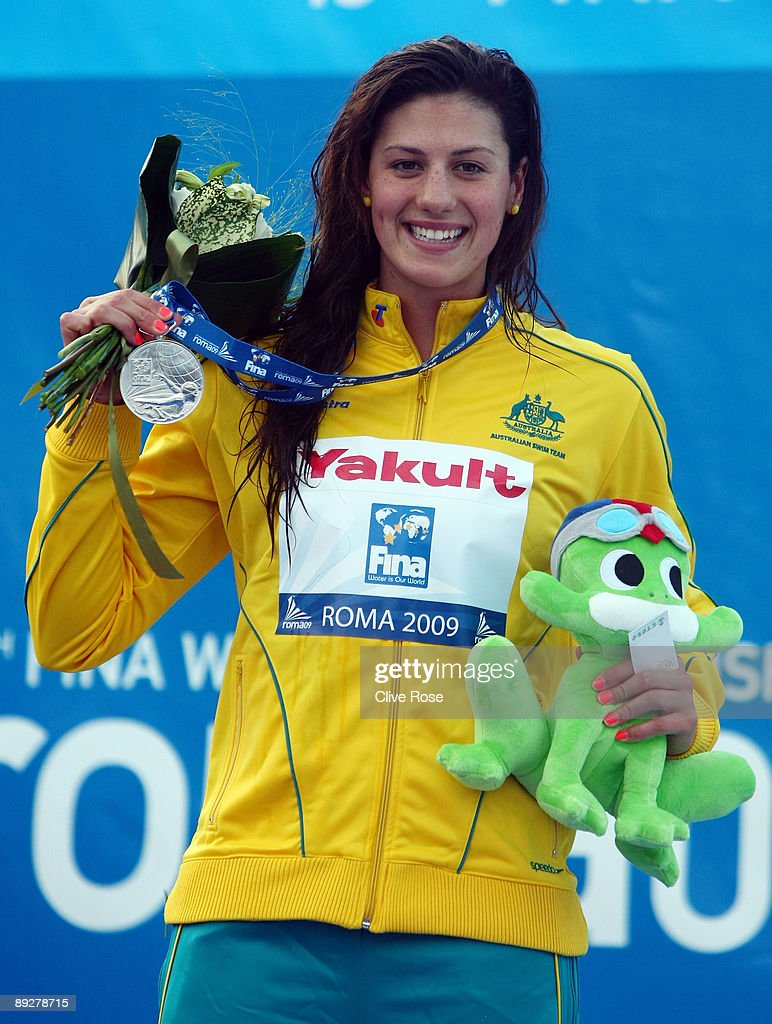 Stephanie Rice of Australia receives the silver medal during the medal ceremony for the Women's 200m Individual Medley Final during the 13th FINA World Championships at the Stadio del Nuoto on July 27, 2009 in Rome, Italy.