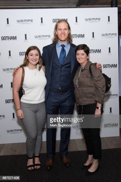 Stephanie Rizzo Noah Syndergaard and Colleen Rizzo attend Gotham Magazine's Celebration of it's Late Spring Issue with Noah Syndergaard at 1 Hotel...