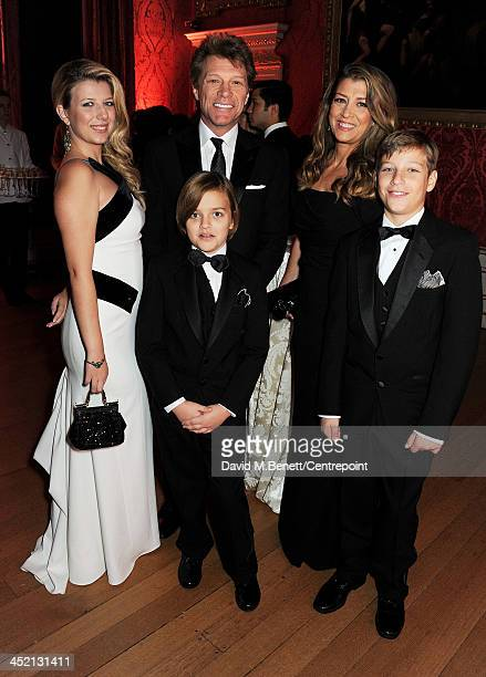 Stephanie Rose Bongiovi Jon Bon Jovi Romeo Bongiovi Dorothea Hurley and Jacob Bongiovi attend the Winter Whites Gala in aid of Centrepoint at...