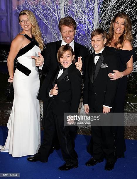 Stephanie Rose Bongiovi Jon Bon Jovi Romeo Bongiovi Dorothea Hurley and Jacob Bongiovi attend the Winter Whites Gala in aid of Centrepoint at...