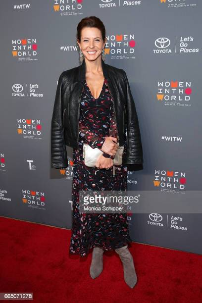 Actress AJ Langer attends the 8th Annual Women In The World Summit at Lincoln Center for the Performing Arts on April 5 2017 in New York City