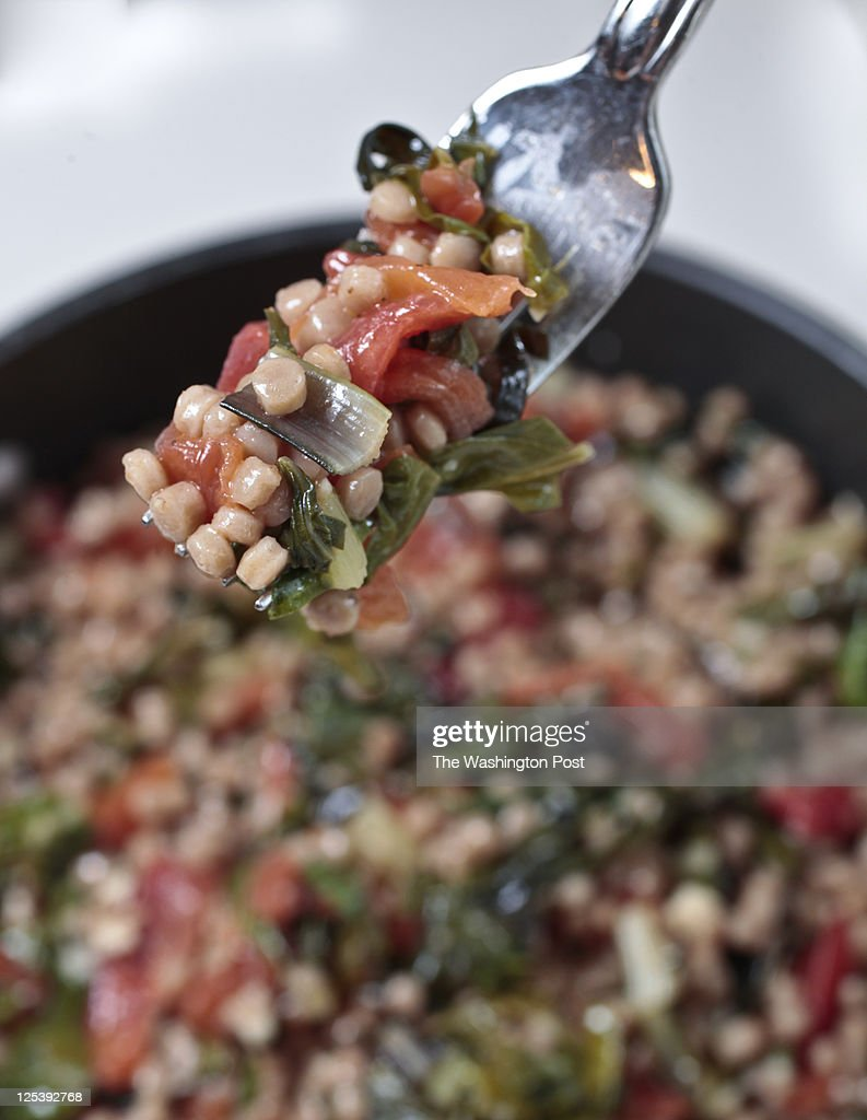 Stephanie Sedgwick's Nourish column this week features Whole Wheat Couscous with Swiss Chard, Tomatoes and Garlic Thursday August 1, 2011.