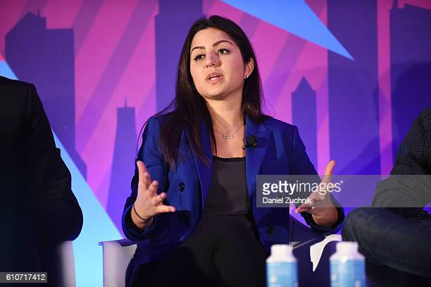 Stephanie Senna speaks onstage at the The Rise of the Omnichannel Programmatic Platform on the ADARA Stage at Times Center Hall during 2016...
