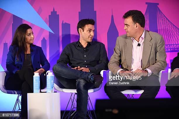 Stephanie Senna Yannis Dosios and John Snyder speak onstage at the The Rise of the Omnichannel Programmatic Platform on the ADARA Stage at Times...