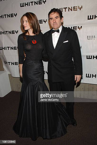 Stephanie Seymour and Peter Brant during The 2006 Whitney Gala Celebrating Picasso and American Art at The Whitney Museum in New York City New York...