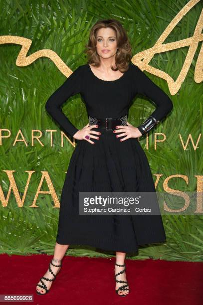 Stephanie Seymour attends the Fashion Awards 2017 In Partnership With Swarovski at Royal Albert Hall on December 4 2017 in London England
