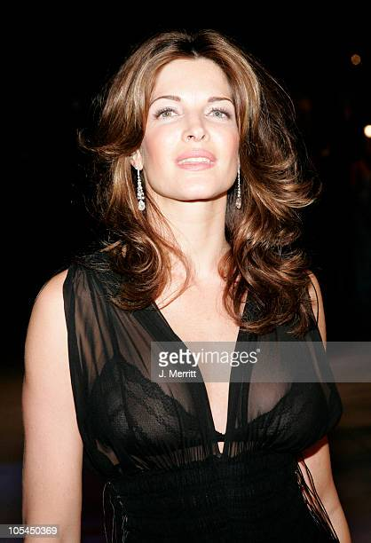 Stephanie Seymour during 2005 Vanity Fair Oscar Party at Mortons in Los Angeles California United States