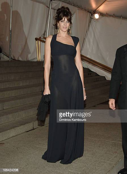 Stephanie Seymour during 'Chanel' Costume Institute Gala at The Metropolitan Museum of Art Departures at The Metropolitan Museum of Art in New York...