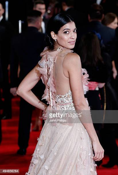 Stephanie Sigman attends the Royal Film Performance of 'Spectre' at Royal Albert Hall on October 26 2015 in London England
