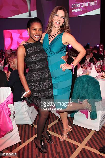 Stephanie Simbeck Eva Maehl during the Video Entertainment Award 2014 on November 19 2014 at Hotel Westin Grand in Munich Germany